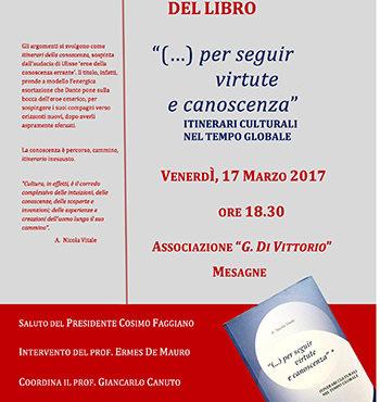Venerdì pomeriggio a Mesagne A.N. Vitale presenta il suo libro