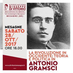 Prosegue la Programmazione Autunnale dell'Associazione Di Vittorio: Sabato 28 Ottobre incontro su ANTONIO GRAMSCI