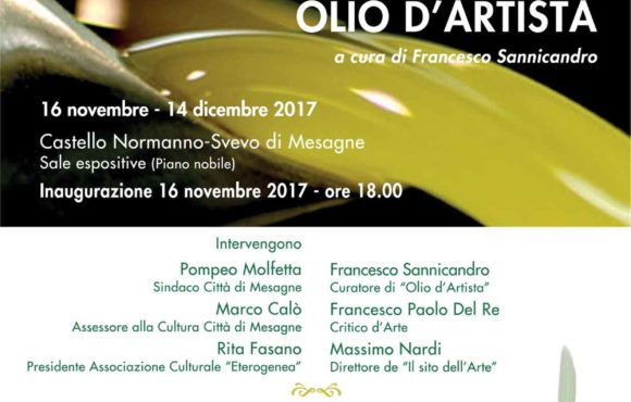 """La Mostra itinerante """"Olio d'Artista"""" al Castello di Mesagne"""