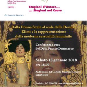 – Comunicato Stampa – Conferenza di  Franco Dammacco su  Gustav Klimt nel centenario della sua scomparsa.