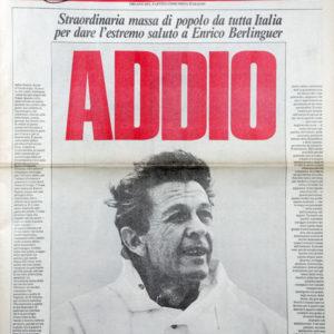 Ricordando Enrico Berlinguer a 34 anni da quell'11 giugno 1984