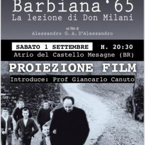 BARBIANA 65. LA LEZIONE DI DON MILANI – Film Sabato 1 settembre ore 20, 30
