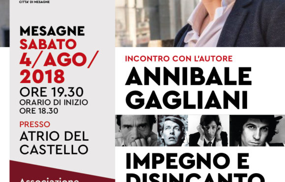 """""""IMPEGNO e DISINCANTO IN PASOLINI, DE ANDRE', GABER E R. GAETANO"""". SABATO 4 AGOSTO ORE 19,30 – ATRIO DEL CASTELLO"""