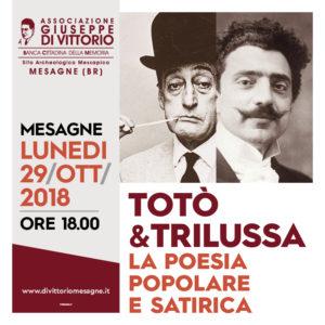 COMUNICATO STAMPA – TOTO' E TRILUSSA: LA POESIA POPOLARE E SATIRICA