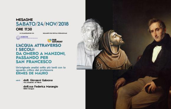 L'ACQUA ATTRAVERSO I SECOLI.  -Con Ermes De Mauro-