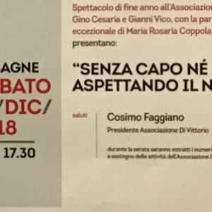 FESTA DI FINE ANNO ALL'ASSOCIAZIONE DI VITTORIO –  MESAGNE.