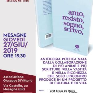 """Presentazione del libro """"Amo, Resisto, Sogno, Scrivo"""" – Comunicato Stampa"""