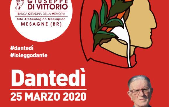 25 marzo 2020, ore 10, video-lezione  del prof. Ermes De Mauro  su Dante in occasione del #DANTEDI'.
