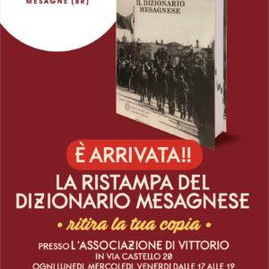 Comunicato Stampa -È ARRIVATA la ristampa del Dizionario Mesagnese-.
