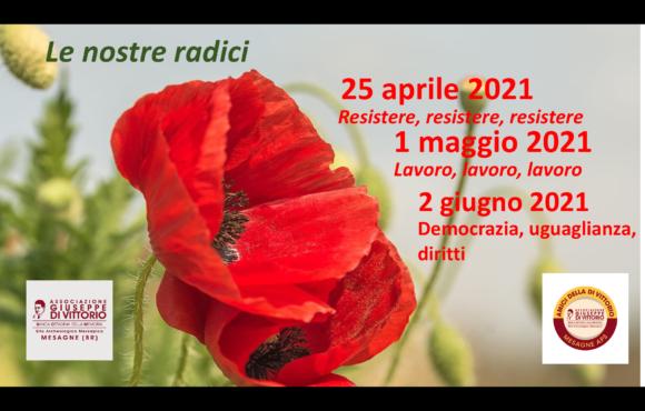 25 Aprile: Resistenza, Lavoro, Democrazia.  Le radici della Repubblica Italiana